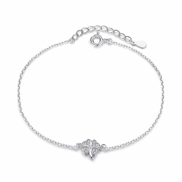 Bracelet Porte-Bonheur Trèfle à 4 Feuilles