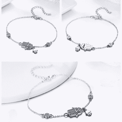 Bracelet Porte-Bonheur Main Fatma Oeil