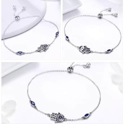 Bracelet Porte-Bonheur Main Fatma 3 côtés