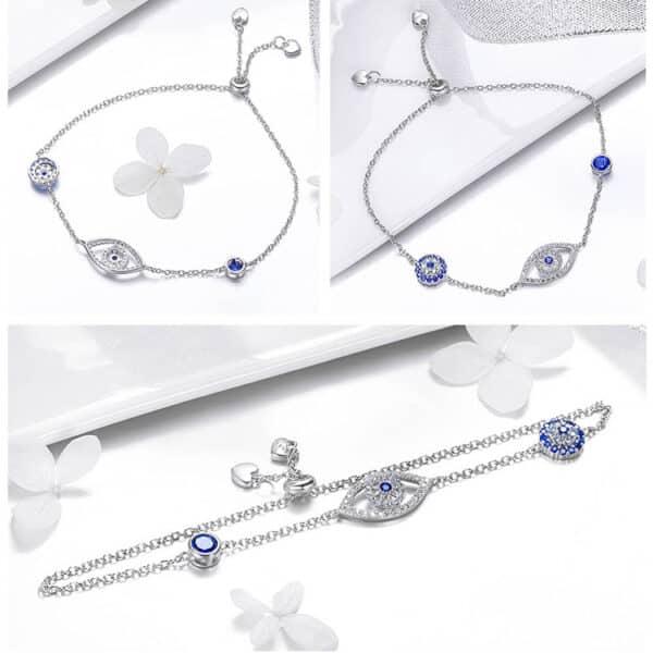 Bracelet Porte-Bonheur Oeil Protecteur 3 Côtés