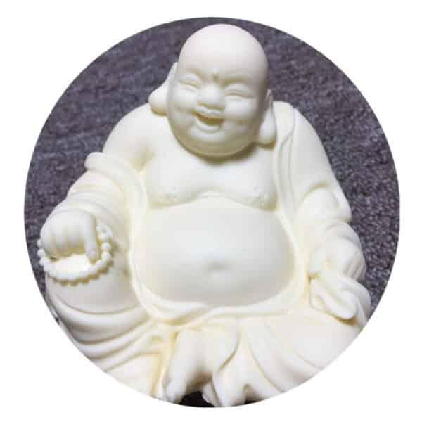 Bouddha Rieur Porte-Bonheur Statuette Résine