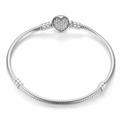 Bracelet Coeur Pour Charm Porte-Bonheur