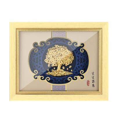 Porte-Bonheur Feng Shui Tableau Arbre de Vie