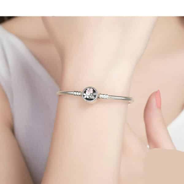 Bracelet de Fleurs Pour Charm Porte-Bonheur