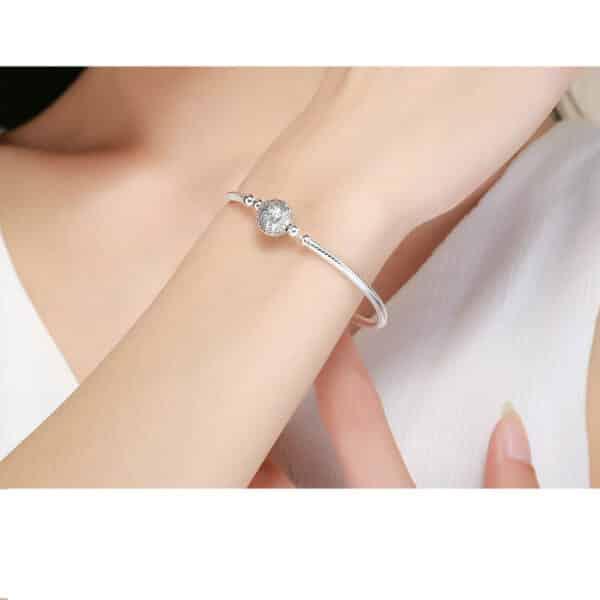 Bracelet Cristal Pour Charm Porte-Bonheur