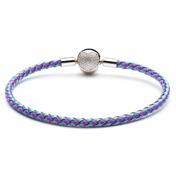 Bracelet Bi-Color Pour Charm Porte-Bonheur