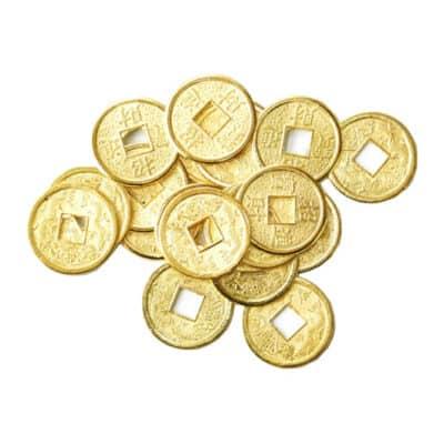 porte-bonheur pièces d'or feng shui