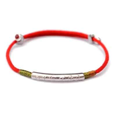 Bracelet Rouge Porte-Bonheur Tibétain