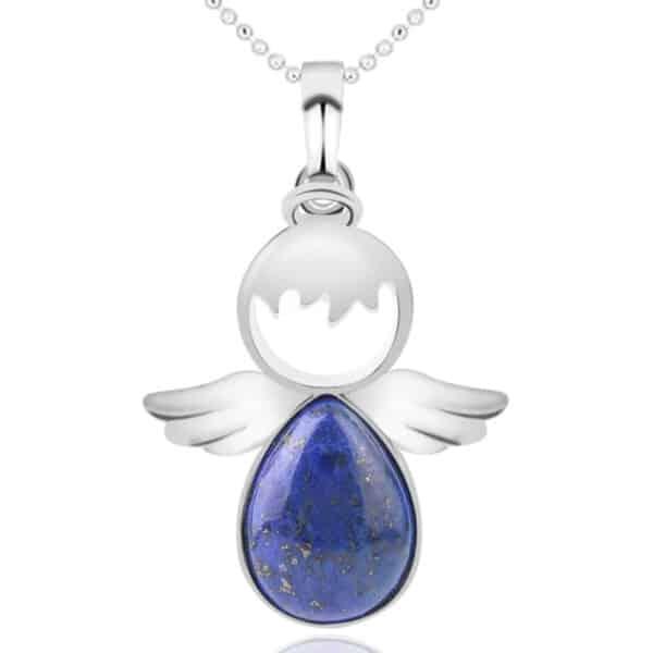 Pendentif Ange Porte-Bonheur Lapis Lazuli