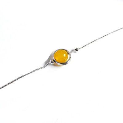 Bracelet Perle Porte-Bonheur Citrine
