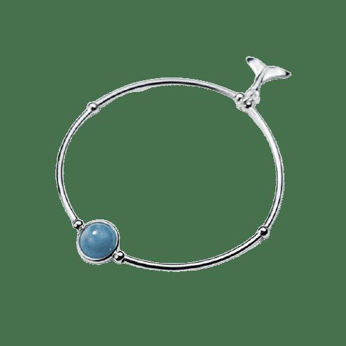 Bracelet Pierre Perle Porte-Bonheur Aigue-Marine