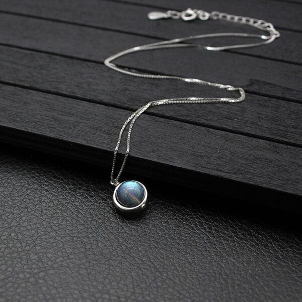 Collier Porte-Bonheur Perle Labradorite