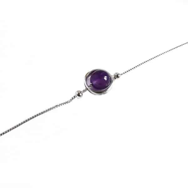 Bracelet Perle Porte-Bonheur Améthyste