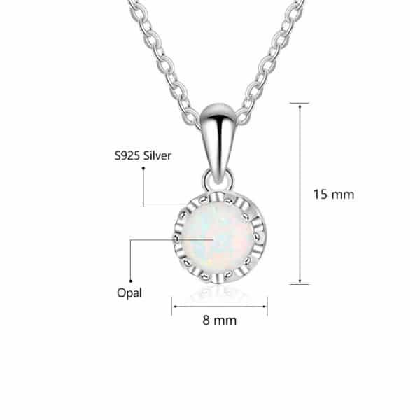 Collier Porte-Bonheur Opale Blanche Perle