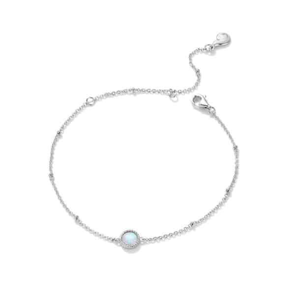 Bracelet Porte-Bonheur Blanche Opale Perle