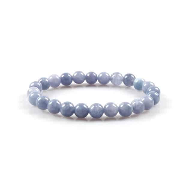 Bracelet Perles Porte-Bonheur Calcédoine