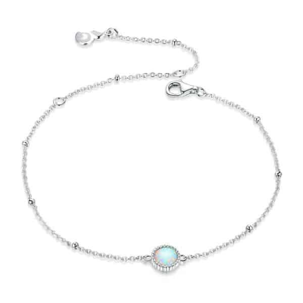 Bracelet Pierre Porte-Bonheur Opale Blanche
