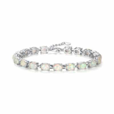 Bracelet Pierres Porte-Bonheur Opale Blanche