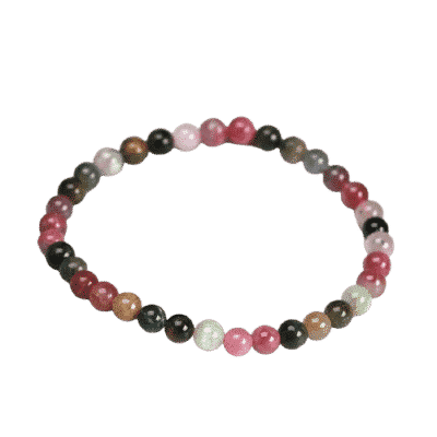 Bracelet Pierres Porte-Bonheur Tourmaline Multicolore