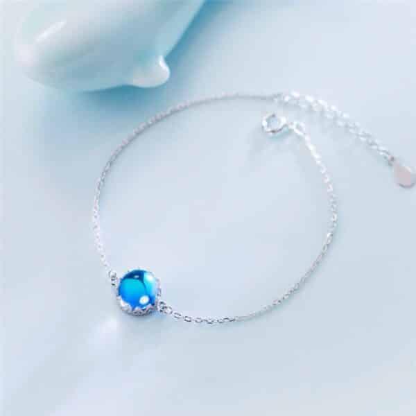 Pierre de Lune Perle Porte-Bonheur Bracelet