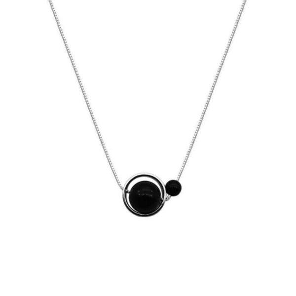 Collier Porte-Bonheur Double Perles Onyx