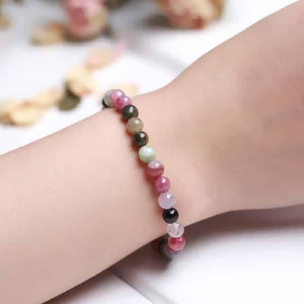 Bracelet Pierres Porte-Bonheur Multicolore Tourmaline