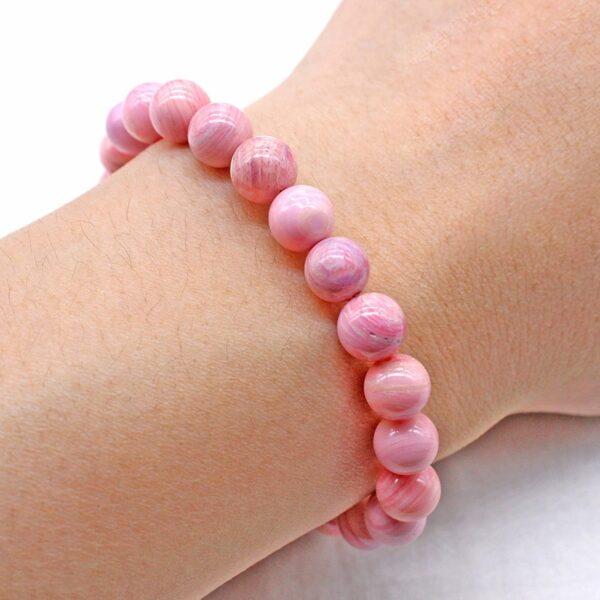 Bracelet Perles Porte-Bonheur Rose Tourmaline