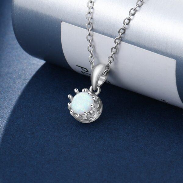 Porte-Bonheur Blanche Collier Opale Perle