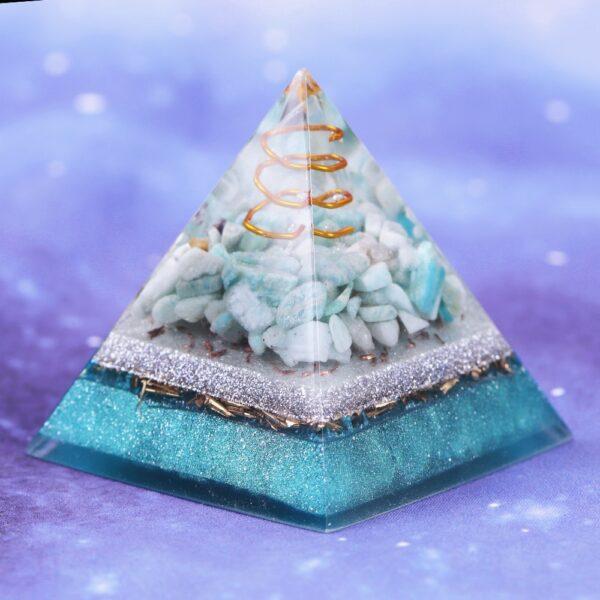 Amazonite Porte-Bonheur Pyramide