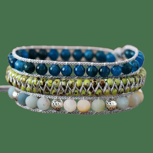 Bracelet Pierres Porte-Bonheur Apatite Amazonite Boho