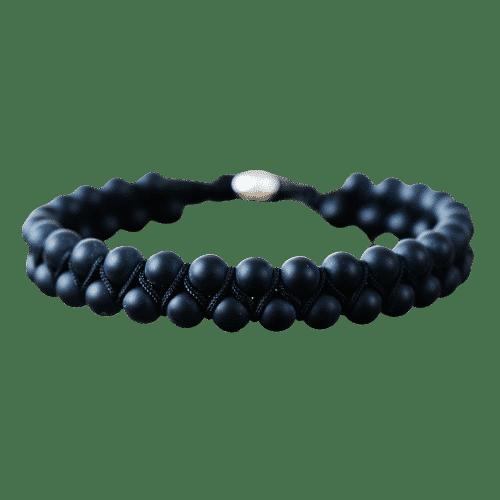 Bracelet Pierres Porte-Bonheur Onyx Tressé