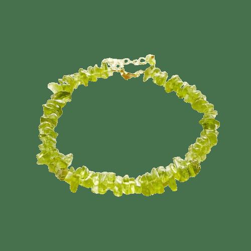 Bracelet Pierres Porte-Bonheur Fragments Péridot