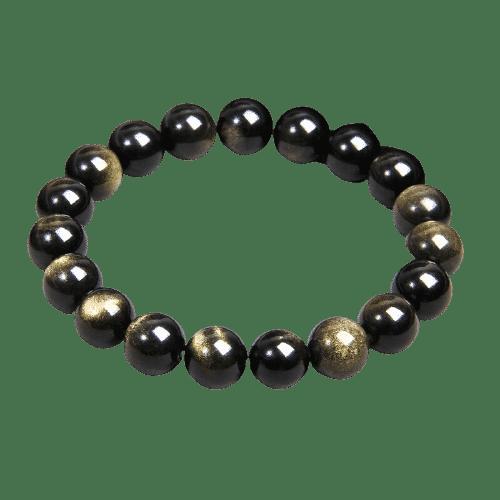 Bracelet Pierres Porte-Bonheur Obsidienne